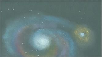 Astronomie-/Dokumentenheft Innenseiten schwarz und weiss