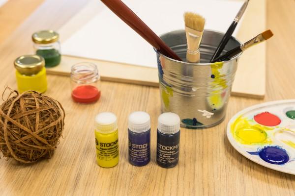Hobby und Geschenkset mit Aquarellfarben