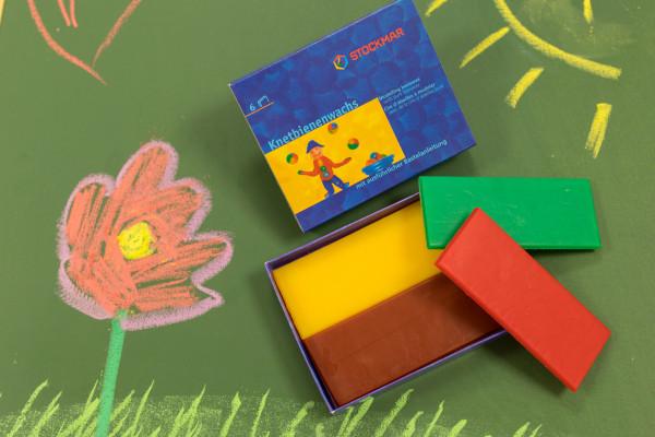 Stockmar Knetbienenwachs 6 verschiedene Farben